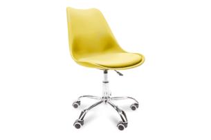 MOTUS, https://konsimo.pl/kolekcja/motus/ Żółte krzesło obrotowe żółty - zdjęcie