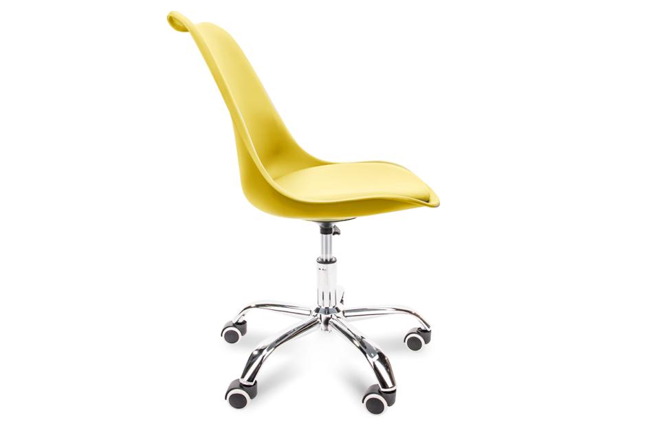 MOTUS Żółte krzesło obrotowe żółty - zdjęcie 2