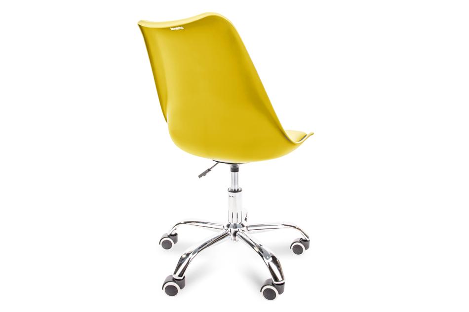 MOTUS Żółte krzesło obrotowe żółty - zdjęcie 3
