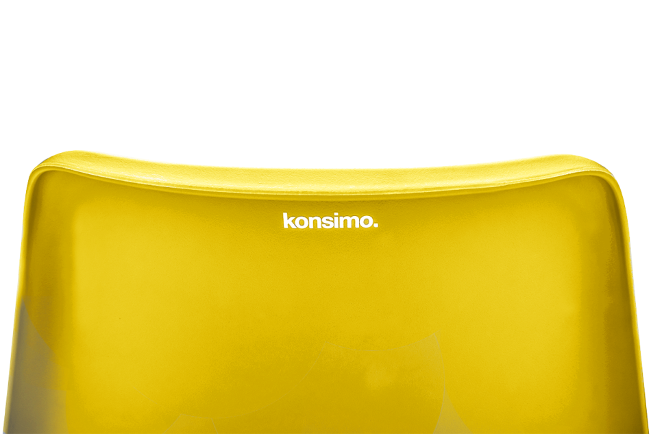 MOTUS Żółte krzesło obrotowe żółty - zdjęcie 5