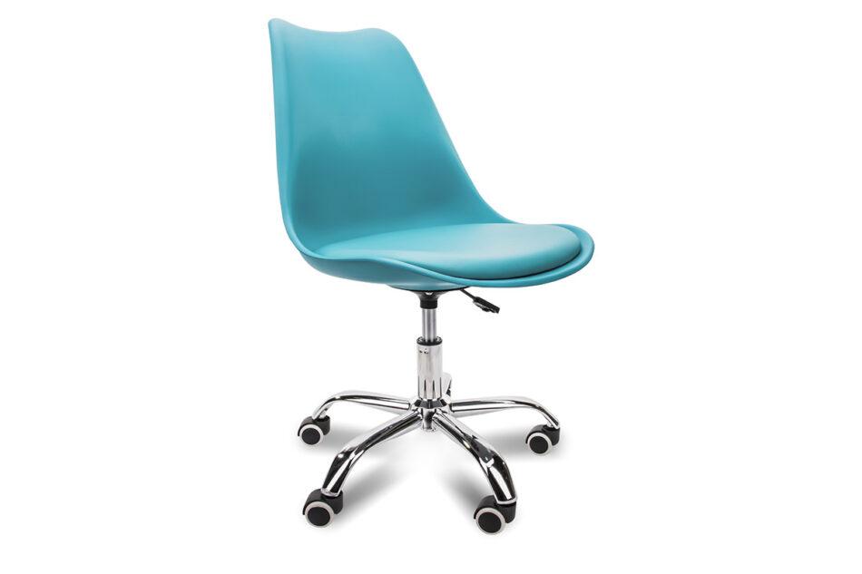 MOTUS Niebieskie krzesło obrotowe turkusowy - zdjęcie 0