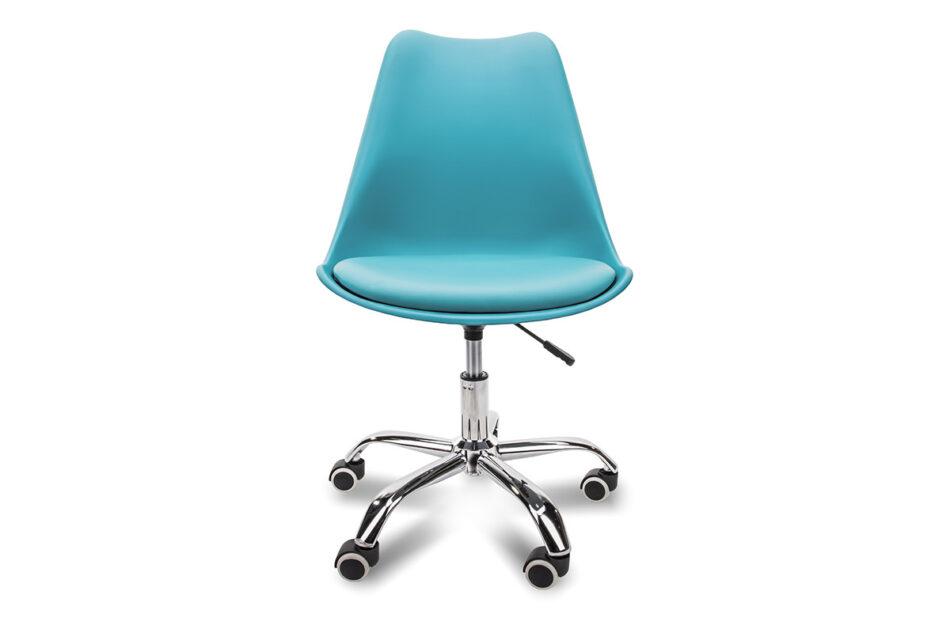 MOTUS Niebieskie krzesło obrotowe turkusowy - zdjęcie 1