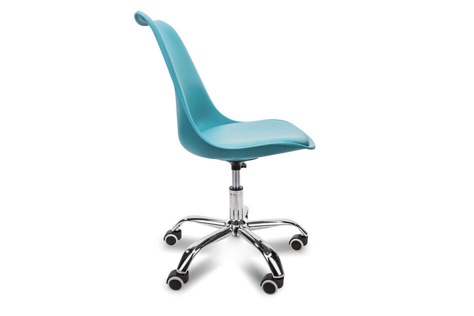 MOTUS Niebieskie krzesło obrotowe turkusowy - zdjęcie 3