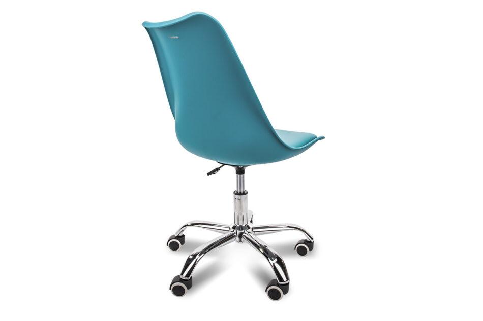 MOTUS Niebieskie krzesło obrotowe turkusowy - zdjęcie 2