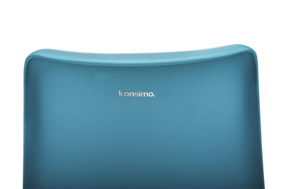 MOTUS Niebieskie krzesło obrotowe turkusowy - zdjęcie 5