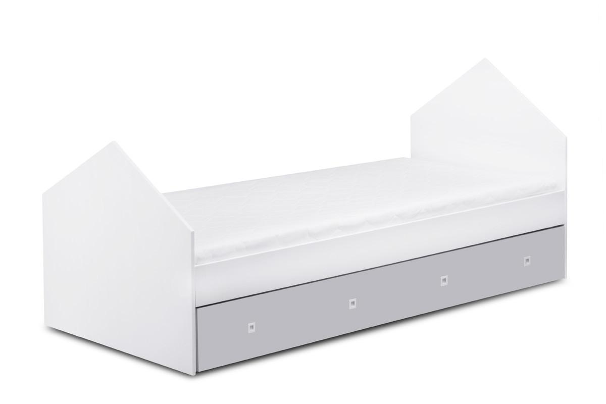 Łóżko domek szary