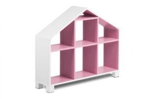 MIRUM, https://konsimo.pl/kolekcja/mirum/ Regał domek dla dziewczynki różowy biały/różowy - zdjęcie