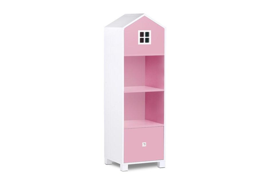 MIRUM Zestaw meble dla dziewczynki domki różowe 3 elementy biały/różowy/szary - zdjęcie 2