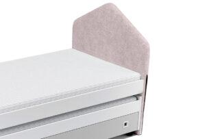 MIRUM, https://konsimo.pl/kolekcja/mirum/ Pokrowiec na zagłówek łóżka różowy - zdjęcie