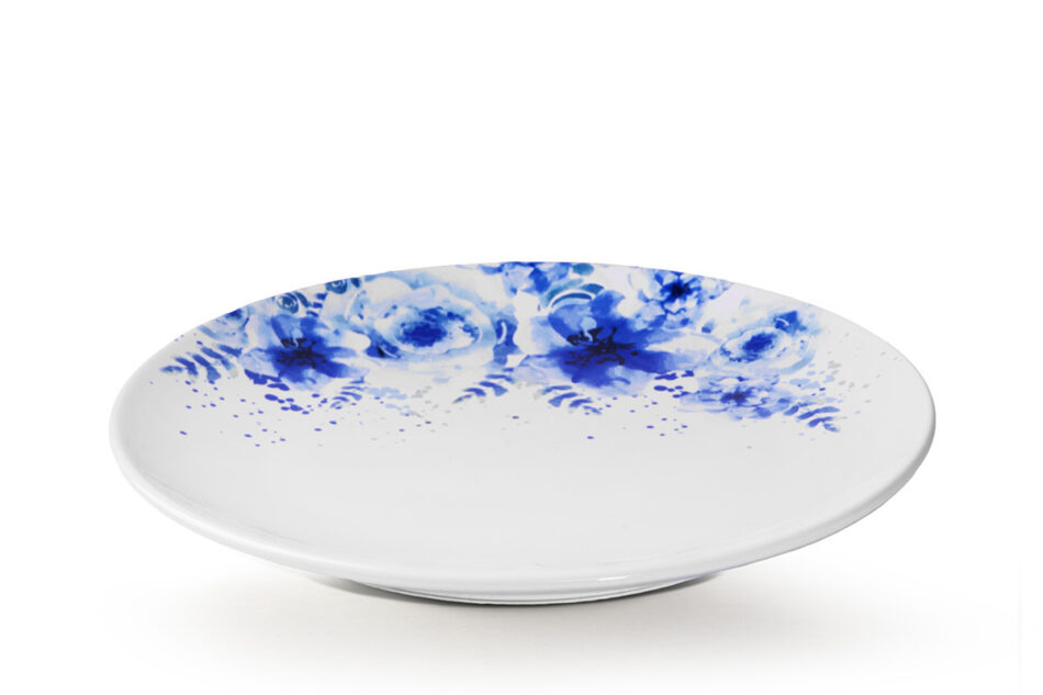 GENTIA Zestaw obiadowy, 6 os. (18el.) biały/niebieski - zdjęcie 5