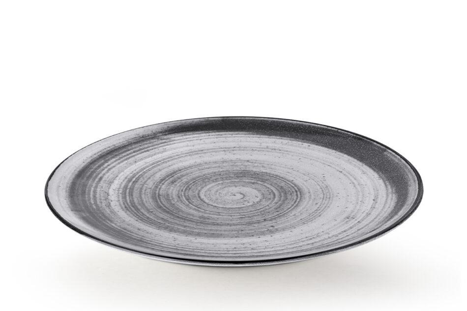 LINARI Nowoczesny zestaw talerzy obiadowych dla 6 os. 18 elementów szary szary/jasny szary - zdjęcie 5