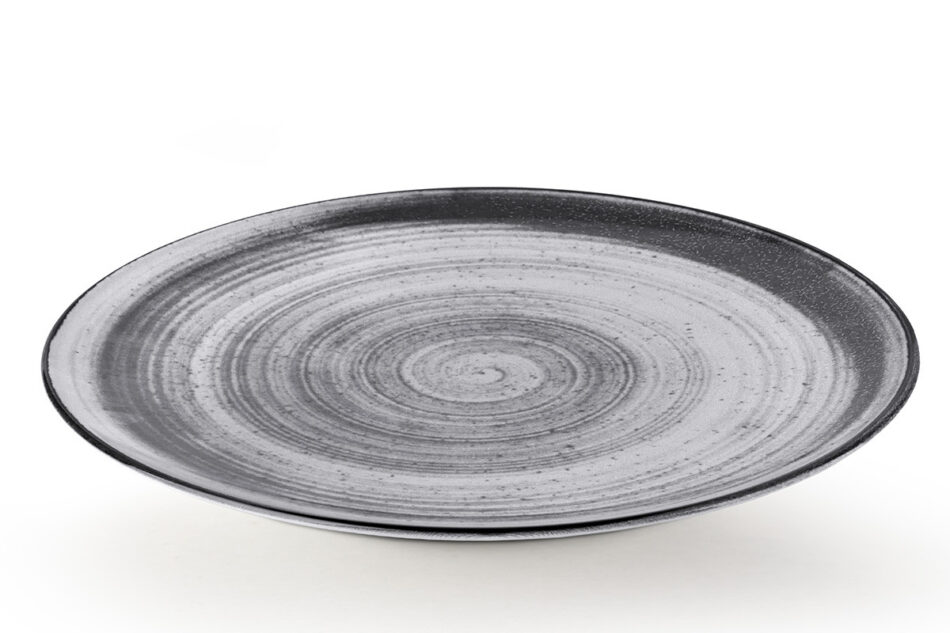 LINARI Nowoczesny zestaw talerzy obiadowych dla 6 os. 18 elementów szary szary/jasny szary - zdjęcie 3