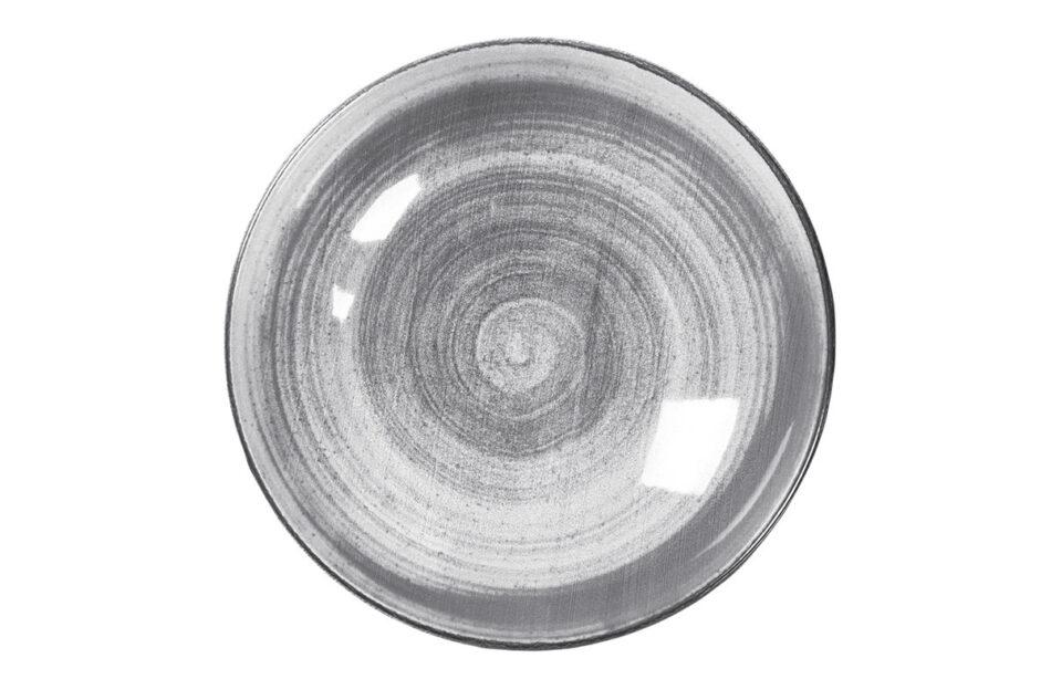 LINARI Nowoczesny zestaw talerzy obiadowych dla 6 os. 18 elementów szary szary/jasny szary - zdjęcie 9