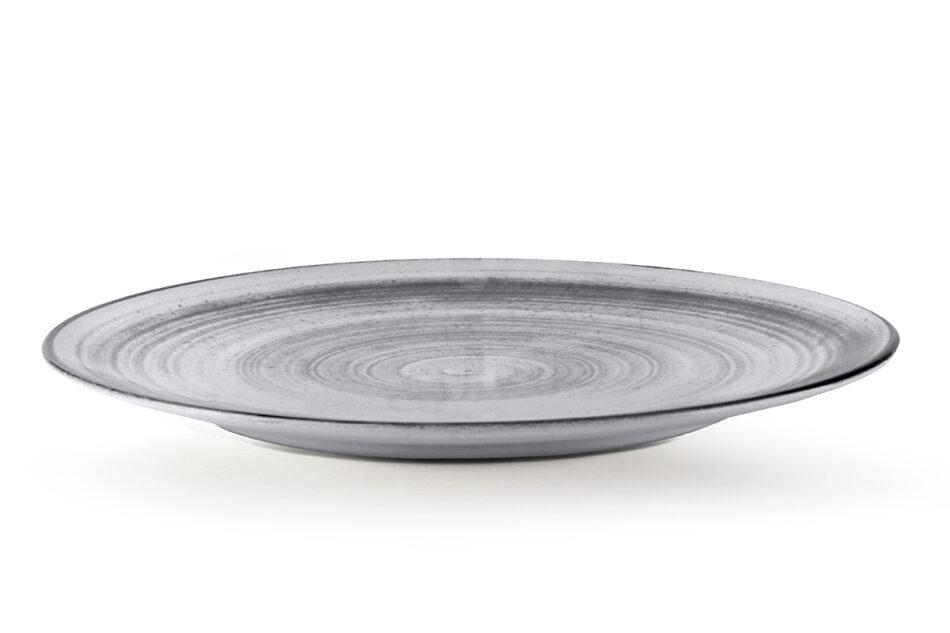 LINARI Nowoczesny zestaw talerzy obiadowych dla 6 os. 18 elementów szary szary/jasny szary - zdjęcie 6