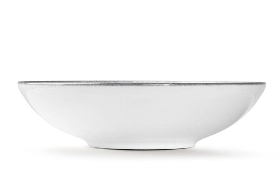 LINARI Nowoczesny zestaw talerzy obiadowych dla 6 os. 18 elementów szary szary/jasny szary - zdjęcie 7
