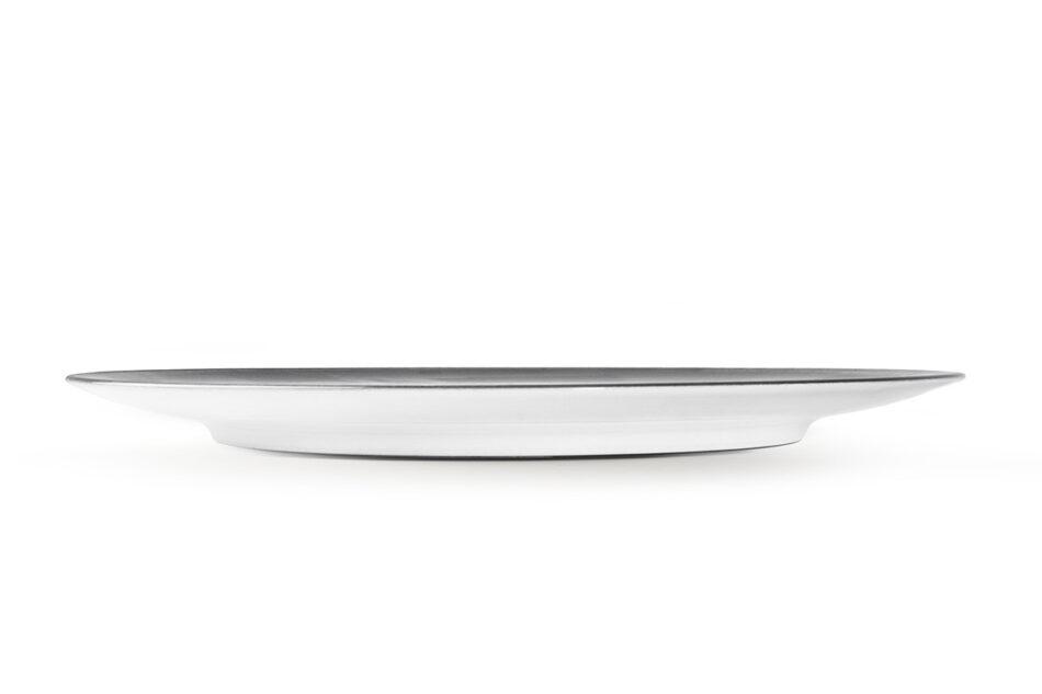 LINARI Nowoczesny zestaw talerzy obiadowych dla 6 os. 18 elementów szary szary/jasny szary - zdjęcie 8