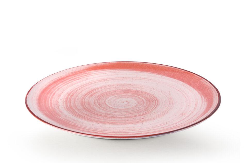LINARI Nowoczesny zestaw talerzy obiadowych dla 6 os. 18 elementów różowy koralowy - zdjęcie 5