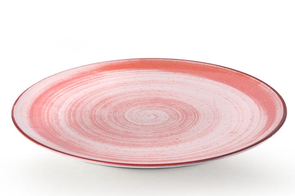 LINARI Nowoczesny zestaw talerzy obiadowych dla 6 os. 18 elementów różowy koralowy - zdjęcie 3