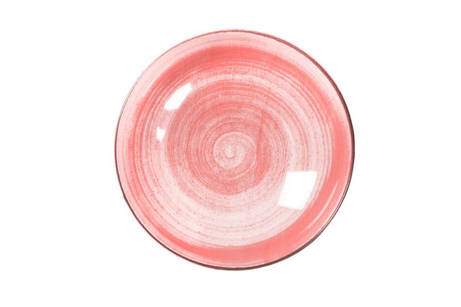 LINARI Nowoczesny zestaw talerzy obiadowych dla 6 os. 18 elementów różowy koralowy - zdjęcie 7