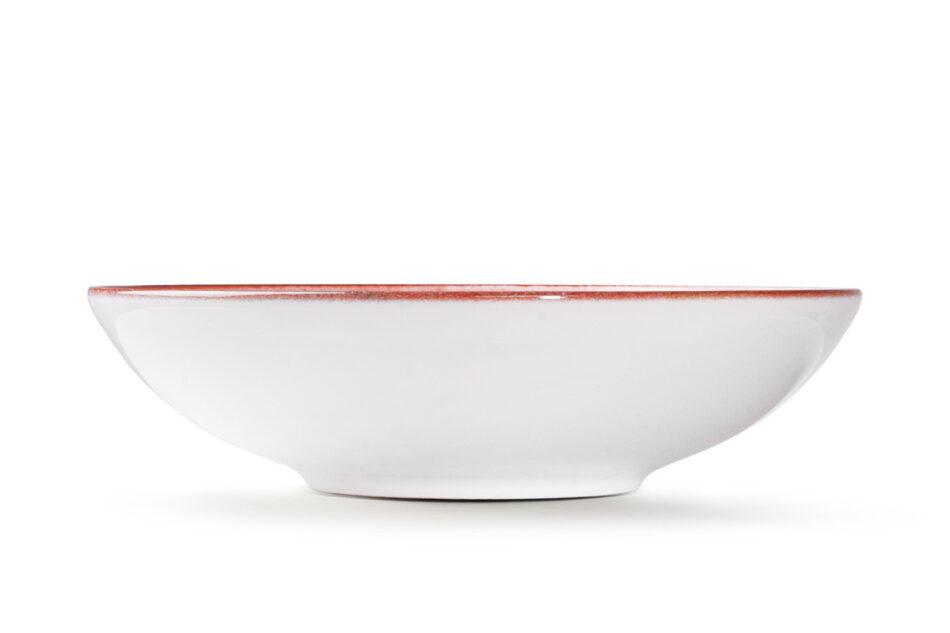LINARI Nowoczesny zestaw talerzy obiadowych dla 6 os. 18 elementów różowy koralowy - zdjęcie 6