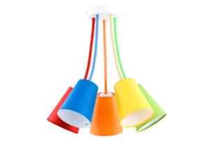 NOKIS, https://konsimo.pl/kolekcja/nokis/ Lampa wisząca czerwony/niebieski/pomarańczowy/zielony/żółty - zdjęcie