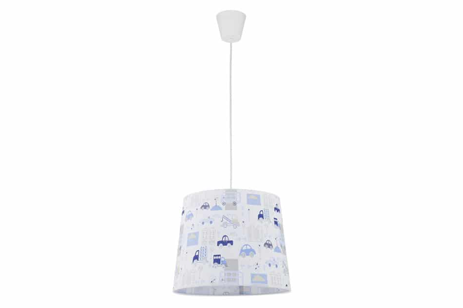 FABULA Lampa wisząca biały/niebieski/szary - zdjęcie