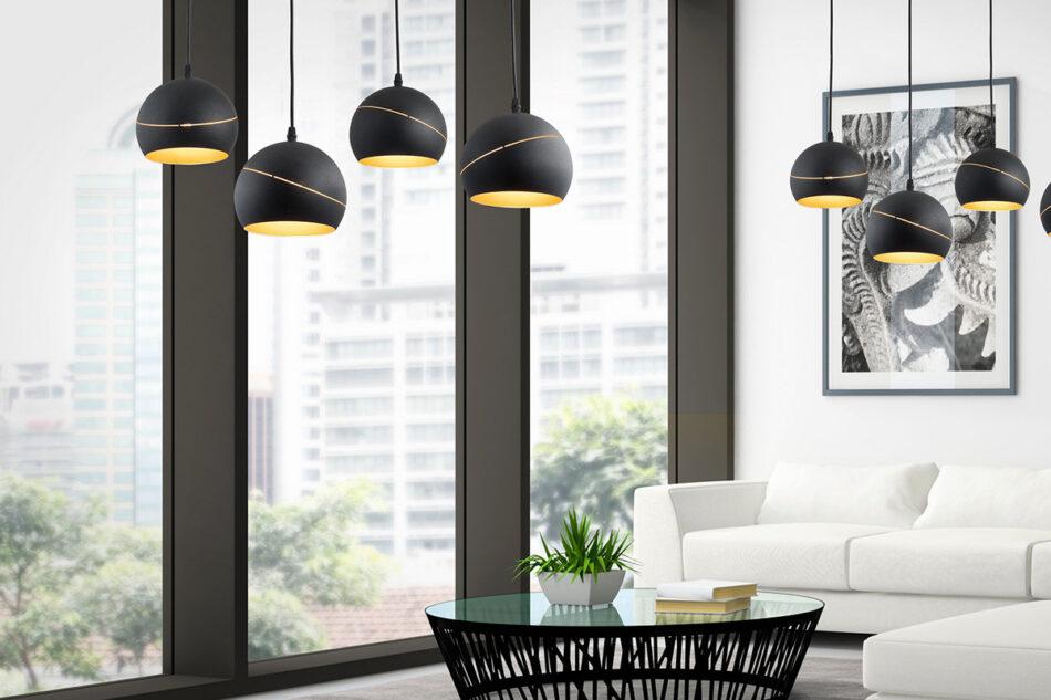 AURISO Lampa wisząca czarny/złoty - zdjęcie 1