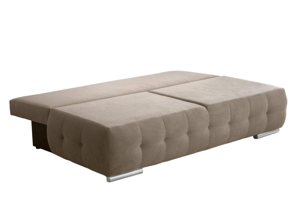 ENOS Rozkładana kanapa pikowana beżowa beżowy - zdjęcie 1