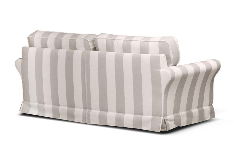CARLA Klasyczna sofa w paski biało-beżowa beżowy/biały - zdjęcie 2