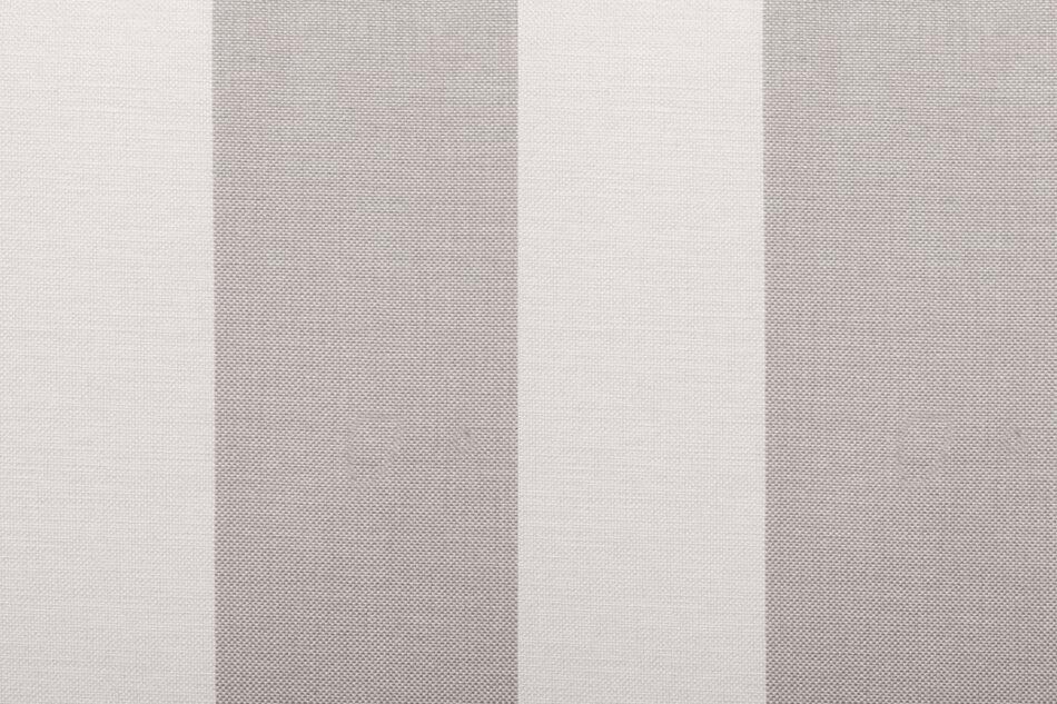 CARLA Klasyczna sofa w paski biało-beżowa beżowy/biały - zdjęcie 3