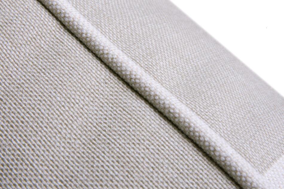 CARLA Klasyczna sofa w paski biało-beżowa beżowy/biały - zdjęcie 4