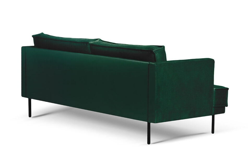 GANZO Sofa 3 osobowa do salonu z poduszkami butelkowa zieleń ciemny zielony/jasny zielony - zdjęcie 2