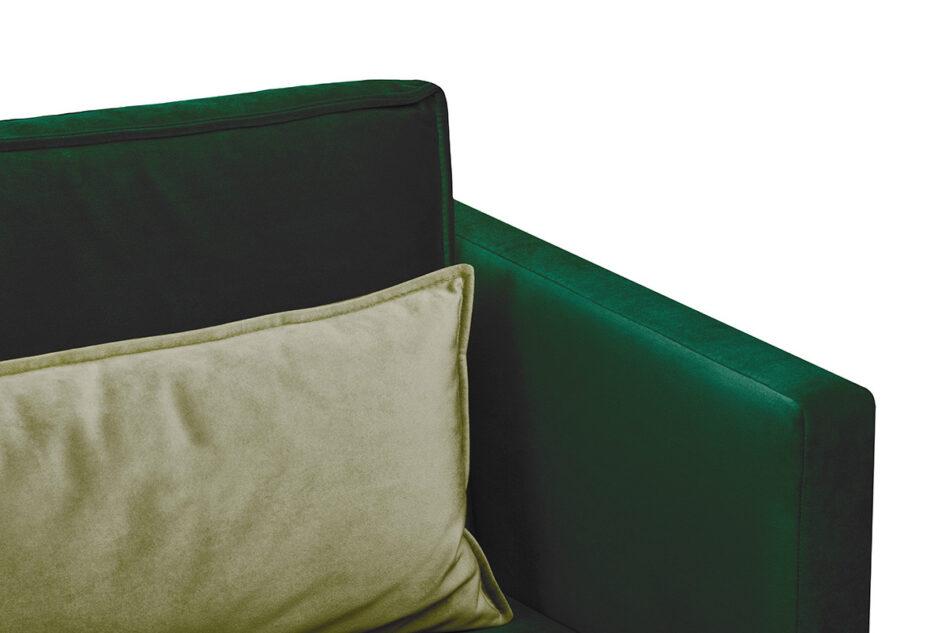 GANZO Sofa 3 osobowa do salonu z poduszkami butelkowa zieleń ciemny zielony/jasny zielony - zdjęcie 3