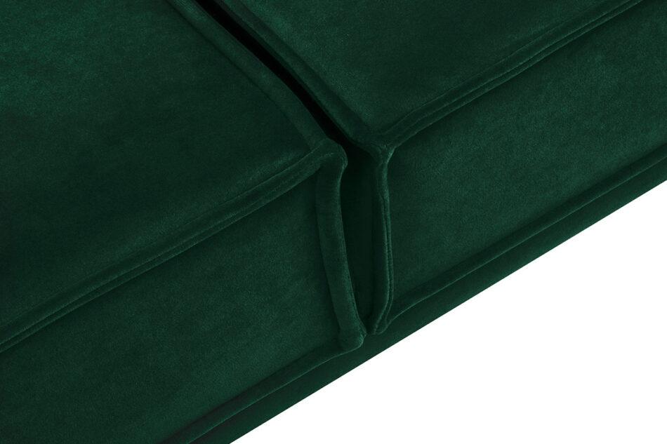 GANZO Sofa 3 osobowa do salonu z poduszkami butelkowa zieleń ciemny zielony/jasny zielony - zdjęcie 4