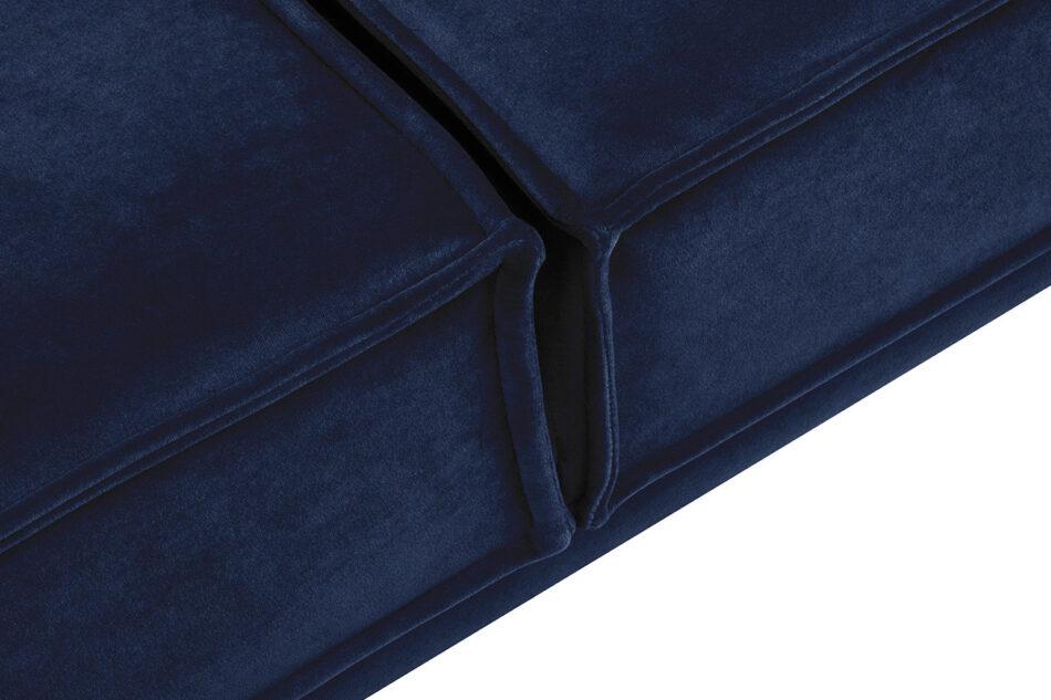 GANZO Sofa 3 osobowa do salonu z poduszkami niebieska granatowy/żółty - zdjęcie 4