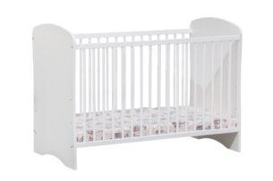 PINKO, https://konsimo.pl/kolekcja/pinko/ Łóżeczko dla niemowląt białe biały/szary - zdjęcie