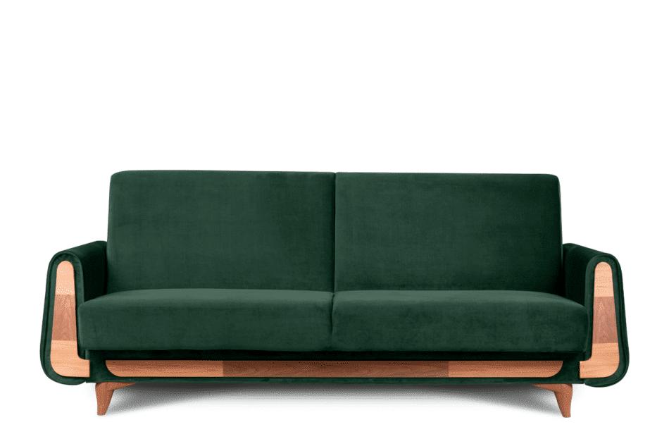 GUSTAVO Zielona sofa rozkładana welur ciemny zielony - zdjęcie 0