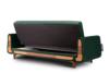 GUSTAVO Zielona sofa rozkładana welur ciemny zielony - zdjęcie 6