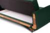 GUSTAVO Zielona sofa rozkładana welur ciemny zielony - zdjęcie 5