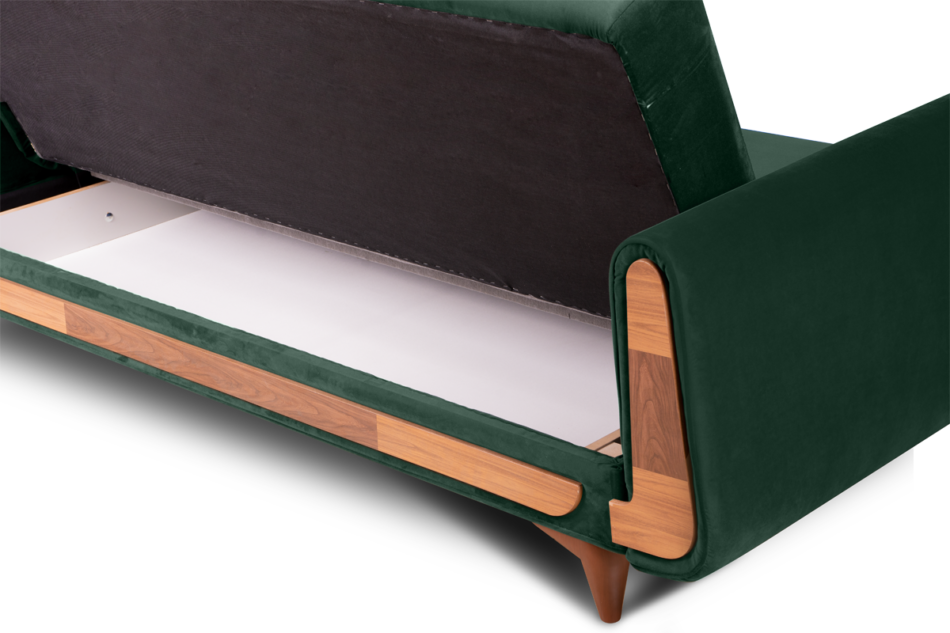GUSTAVO Zielona sofa rozkładana welur ciemny zielony - zdjęcie 4