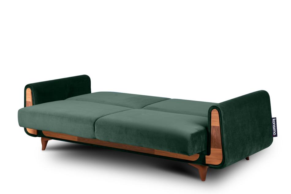 GUSTAVO Zielona sofa rozkładana welur ciemny zielony - zdjęcie 3