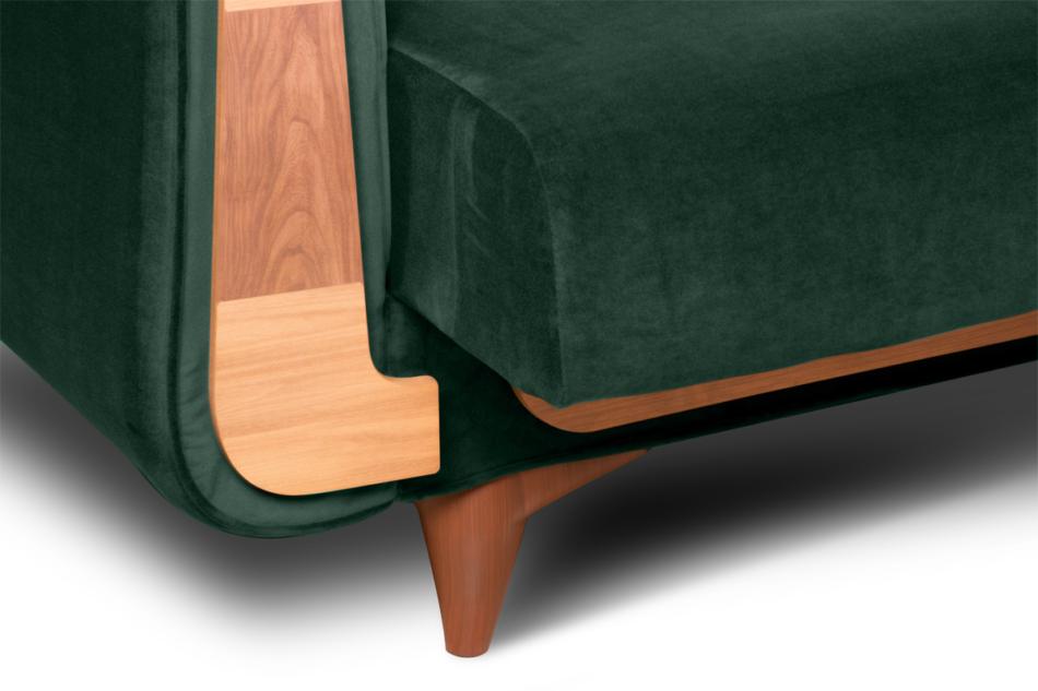 GUSTAVO Zielona sofa rozkładana welur ciemny zielony - zdjęcie 7
