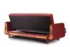 GUSTAVO Czerwona sofa rozkładana welur bordowy - zdjęcie 5