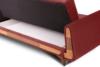 GUSTAVO Czerwona sofa rozkładana welur bordowy - zdjęcie 7