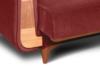 GUSTAVO Czerwona sofa rozkładana welur bordowy - zdjęcie 6