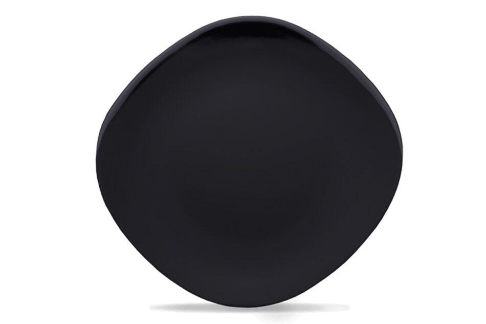 GRESI Nowoczesny zestaw obiadowy dla 4 osób czarny czarny - zdjęcie 4