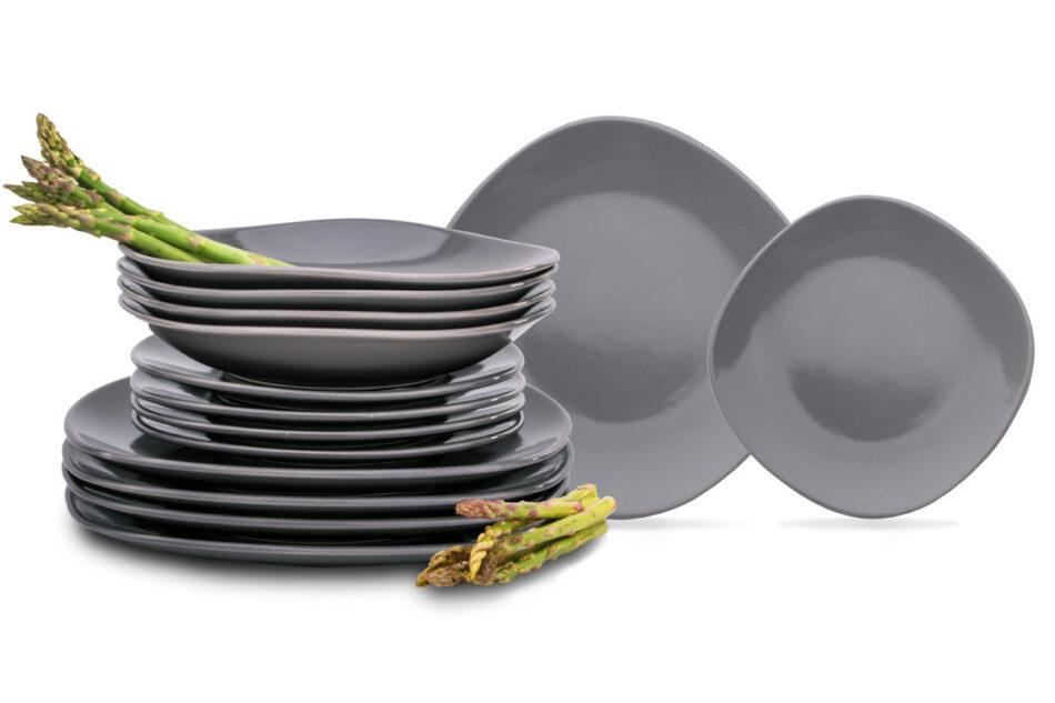 GRESI Zestaw obiadowy, 4 os. (12 el.) szary - zdjęcie 0
