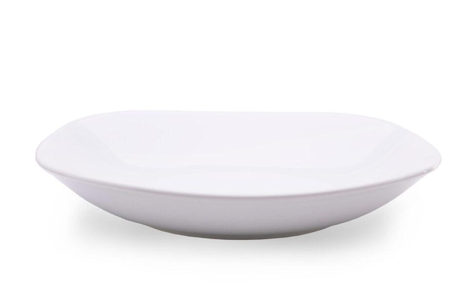 GRESI Nowoczesny zestaw obiadowy dla 12 osób biały biały - zdjęcie 7