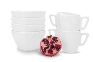 GRESI, https://konsimo.pl/kolekcja/gresi/ Zestaw śniadaniowy, 4 os. (8 el) biały - zdjęcie