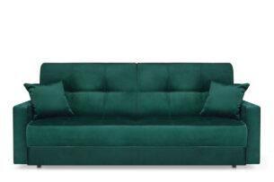 ORIO, https://konsimo.pl/kolekcja/orio/ Zielona rozkładana kanapa do salonu welur zielony - zdjęcie